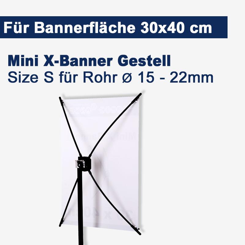 Mini X-Banner Gestell 30x40cm